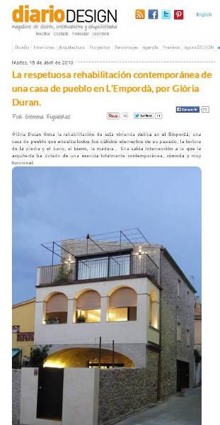 prensa arquitectura e interiorismo, gloria duran arquitecta