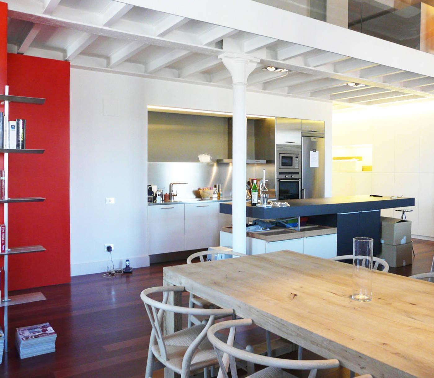 Ampliación e interiorismo de un loft en el 22@ de Barcelona